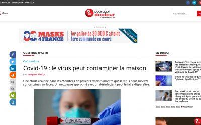 Covid-19 : le virus peut contaminer la maison